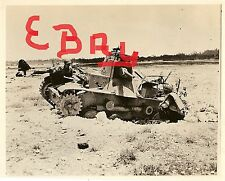 WWII HUGE 8X10 PHOTO US MARINES IWO JIMA JAPANESE TANK AND PLANE DESTROYED LOOK