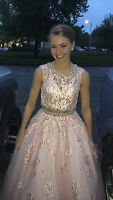 pale pink two piece prom dress size 2 only worn twice and it was altered