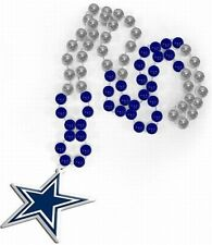 Dallas Cowboys Pearl Necklace with Crest, NFL Football, Beads Medallion, NEW