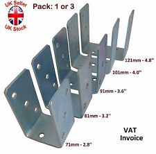 "Heavy Duty Galvanised (""U""Shape) Post Fence Foot Anchors Thickness:4mm Pack:1or3"