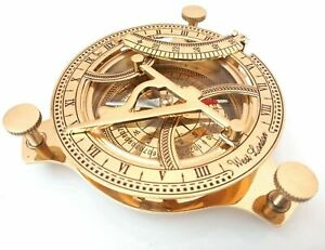 Nautical West London Marine Brass Sundial Compass Collectible Gift for decor