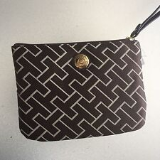 ••Tommy Hilfiger  Brown Travel  Wallet Handbag Insert Wristlet Pouch New
