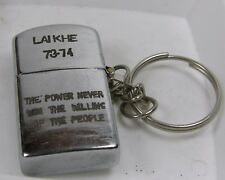 #k1 Vietnam War Key Chain Lighter Lai Khe 73-74 The Power Never Win The Willing
