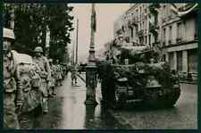 Troops in Belfort WWII ww2 war anti nazi French Army old 1940s Photo postcard