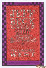 Bill Graham 148 Postcard Ad Back Jeff Beck Group Spirit Linda Tillery 1969 Dec 5