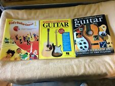 Guitar Instructional materials for kids and beginners. 3 Books Gently used
