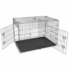 "42"" Dog Crate Kennel Folding Metal Pet Ca