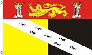 Norfolk Crest County 5ft x 3ft (150cm x 90cm) Flag