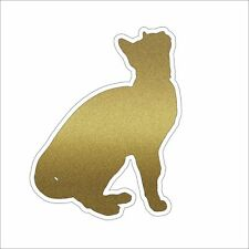 3M Graphics Cat Kitten Silhouette Gold Glitter Vinyl Car Laptop Decal Sticker
