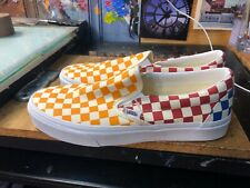 Vans Classic Slip On Checkerboard Multi Yellow Red Size US 10 Men's VN0A38F7VLV