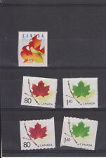 CANADA MNH STAMPS 2000 SELECTION OF MAPLE LEAVES LEAF STAMPS