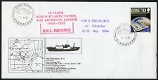 GIBRALTAR ANTARCTIC SHIP ENDURANCE PAQUEBOT CANCEL SOUTH ATLANTIC PATROL 1984
