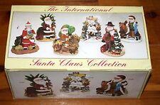 International Santa Claus Collection 6 Figurine Box Set SC98 Taiwan Egypt etc.