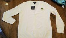Lands End Womens Cardigan Sweater White With John Deere Logo NWT XS Petite