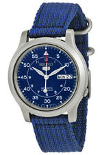 Seiko 5 Automatic SNK807 SNK807K2 Mens Blue Dial Day Date Watch