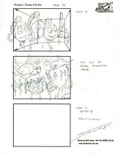 MARK SIMON Hand Drawn Disney on ice Finding Nemo Spot Storyboard Page Signed #MS