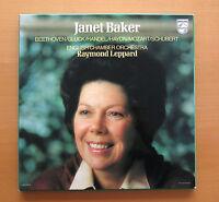 Philips 6767 001 Janet Baker Beethoven Gluck etc Raymond Leppard 4xLP NM/VG