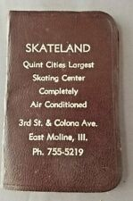 Vintage East Moline, Illinois Skateland Unused Address Booklet