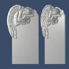 3d stl model angels grave cnc router artcam aspire