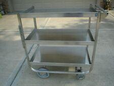 Nsf Do 43178 Heavy Duty Deep Shelf Utility Cart, Stainless Steel 3 Shelves Vgc