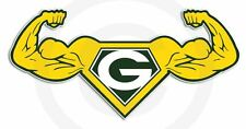 """G"" Power Flexin Sticker / Decal in Green Bay, Winconsin colors Large 12x6"