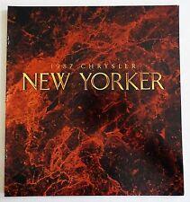 NOS 1987 Chrysler Neu Yorker Auto Automobile Prospekt Mint Zustand