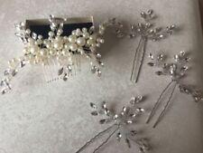 Accessoires de coiffure ivoire en cristal pour la mariée