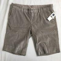 Gap Bermuda Shorts Size 4 Gray Velour 100% Soft Cotton Casual NWT