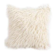 Soft Plush Mongolian Faux Fur Pillow Cover Warm Cushion Protection Case Display