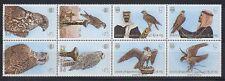 Bahrain 1980 ** 298/305 Zdr.-Streifen Vögel Birds Falcons Falken
