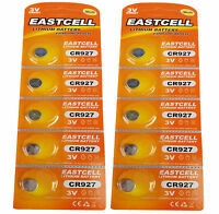 10 x CR927 ( 3V 30 mAh ) Lithium  2 Blistercard a 5 Batterien EASTCELL