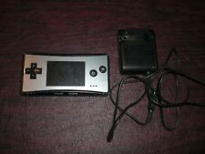 Nintendo Game Boy Micro Silver Console System Tested Works w/ Screen Issue Heavy
