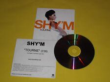 "CD PROMO MONO TITRE SHY'M ""TOURNE"""