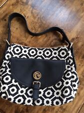 womens handbags and purses/Spartina 449 Daufuskie Island Black Leather And Linen