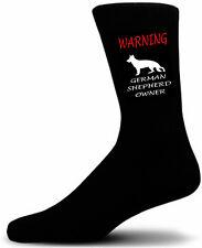 Black Warning German Shepherd Owner Socks - I love my Dog Novelty Socks