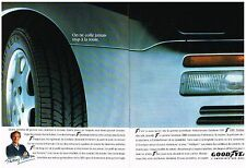 PUBLICITE ADVERTISING  1990  GOODYEAR  SIBR  pneus ( 2 pages)