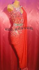 Ballroom Hot Red  Sexy Latin Cha Cha Ramba Samba US 14 Dance Dress#L2054
