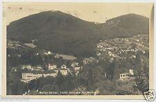 AK Baden Baden Hotel Bellevue mit Merkur, gel. 1936  (X701)