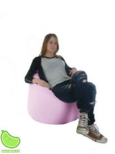 Extra Large / Adult Size Bean Bag With Beans From BeanLazy Pink Polka Dot