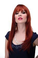 Perruque pour Femme Rouge Auburn Long Lisse Frange 55cm 3280-350 Femmes Perruque