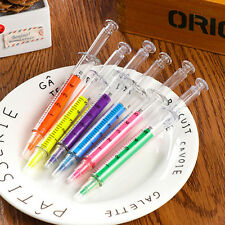 Liquid Syringe Highlighter Watercolor Pen Novelty Injection Pens Stationery Pop