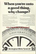 Bridgestone Motorcycle Tyres 1980 Magazine Advert #440