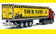 Tamiya 1/14 scale camion personnalisé personnalisé reefer trailer stickers decals