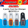 4 Ports QC3.0 USB Quick Fast Car Charger For Apple iPhone 8 8 Plus X XS Max XR