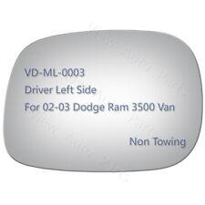 Mirror Glass for 2002 2003 Dodge Ram 3500 Van Pickup Driver Left Side LH #2932