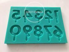 Números diseñado Molde Molde Pastel de chocolate derretido Decoración Vela fabricación de jabón