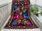 Azilal Moroccan Handmade Wool Rug Beni Ourain Tribal Vintage Carpet
