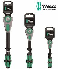 WERA 1/4in, 3/8in & 1/2in Zyklop 8000 Speed Ratchet Reversible Wrench Spanner