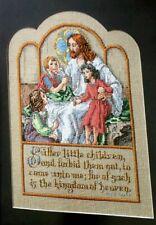 Cross Stitch Pattern JESUS Come LITTLE CHILDREN Bible Verse Matthew 19:14 Heaven