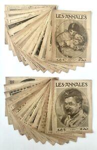 51 magasines Les Annales 1917, journal politique, littérature, 1er guerre, revue